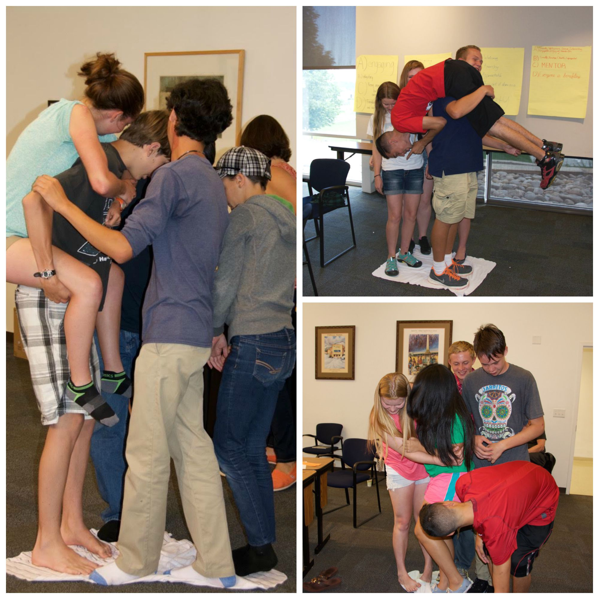 Teens get creative when space is cramped!