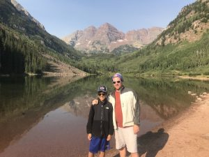 David Wallace Sr with David Wallace Jr enjoying their favorite hobby—the outdoors