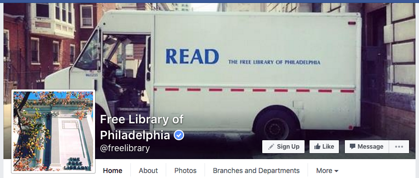 PA Free Library of Philly insitution FB screenshot