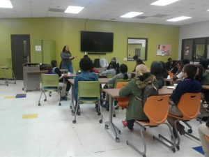 Speaker talks to teens about environmental science