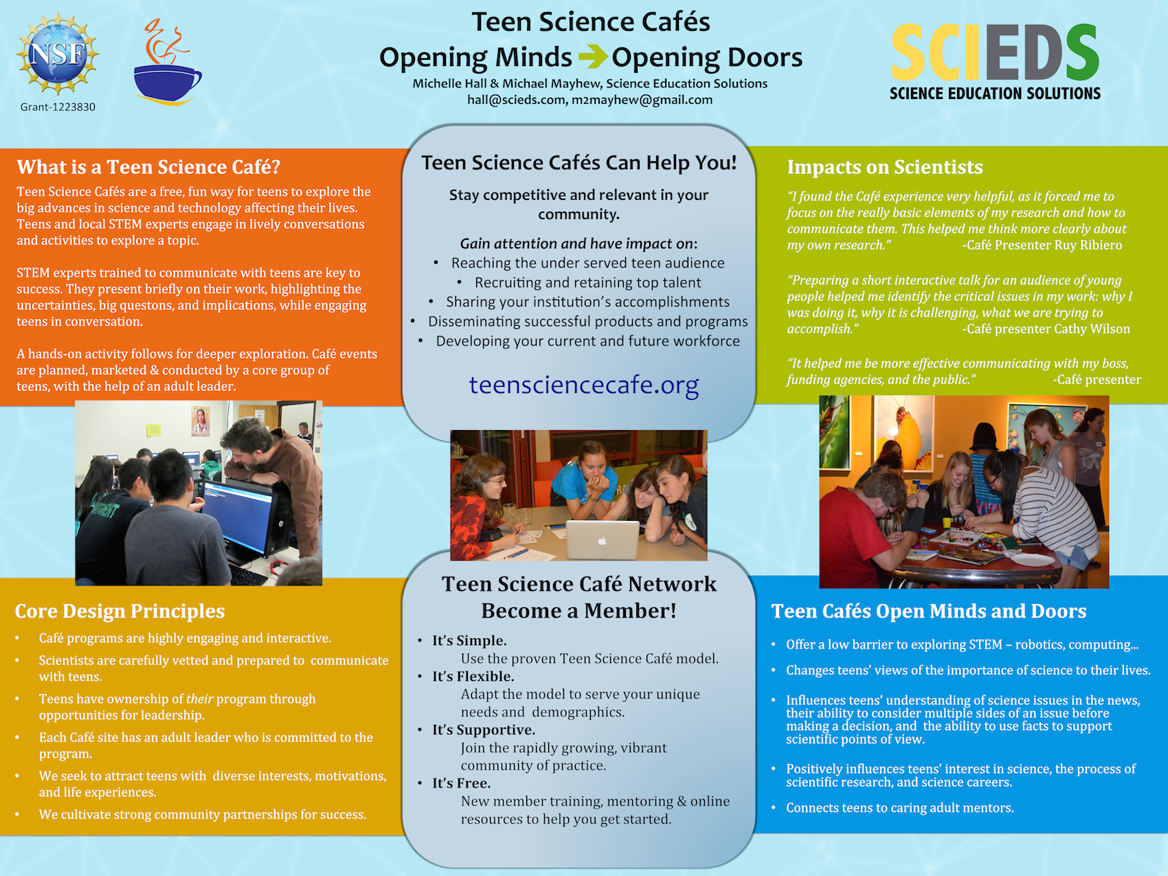 TSCN -Opening Doors and Minds poster