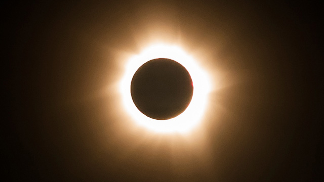 Picture of a total solar eclipse in Patagonia
