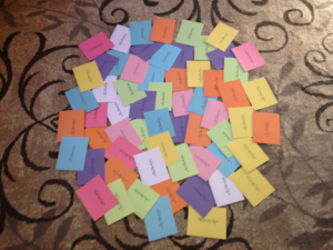 Thank you notes to the awesome donors!